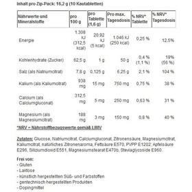 SaltStick Fastchews Kauwtabletten 10 stuks, with salt and minerals/lemon
